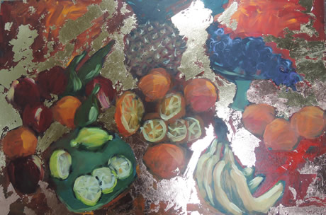 Fruit Table with Gold - Lynn Golden