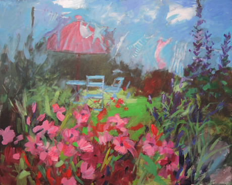 Garden canvas - Lynn Golden